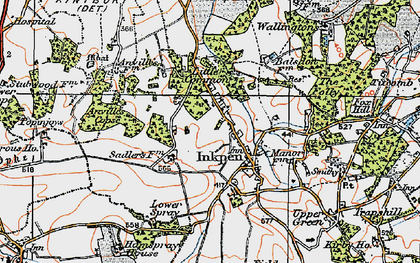 Old map of Anville's Copse in 1919