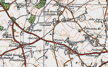 Old map of Winter's Cross in 1919