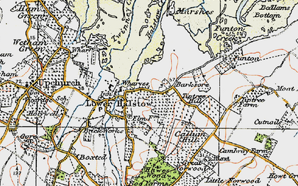 Old map of Lower Halstow in 1921