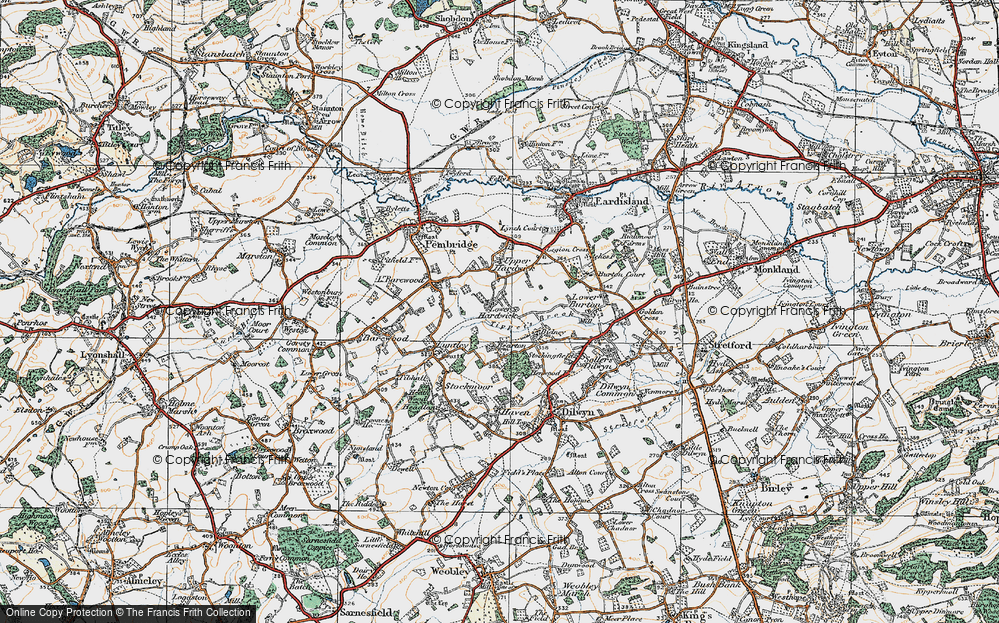 Old Map of Historic Map covering Tippet's Brook in 1920