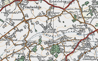 Old map of Lower Hardwick in 1920