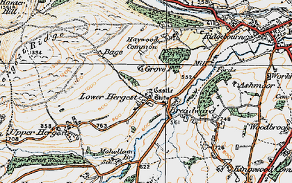 Old map of Whet Stone in 1920