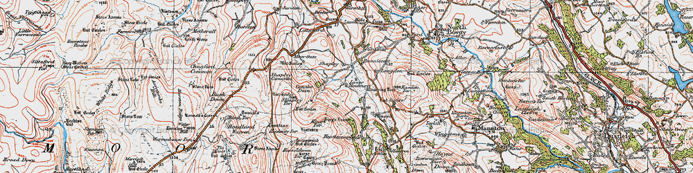Old map of Whooping Rock in 1919