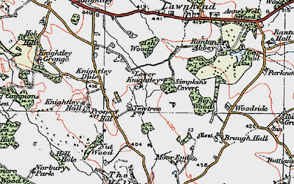 Old map of Ash Wood in 1921