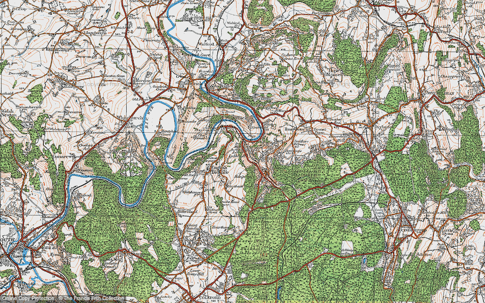 Old Map of Lower Lydbrook, 1919 in 1919