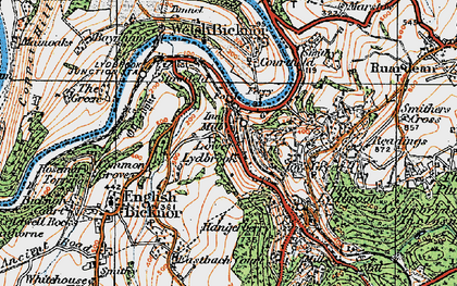 Old map of Lower Lydbrook in 1919