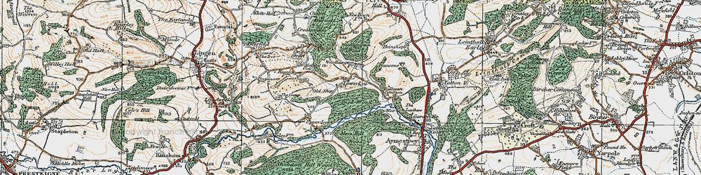 Old map of Woodhampton in 1920