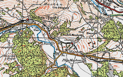 Old map of Lower Machen in 1919