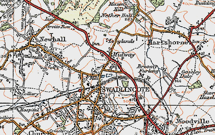 Old map of Lower Midway in 1921