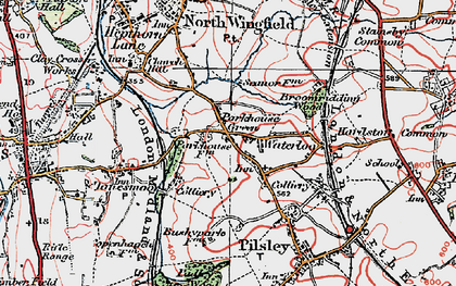 Old map of Lower Pilsley in 1923