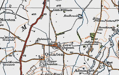Old map of Admington Grounds in 1919