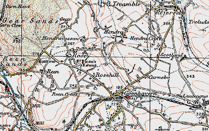 Old map of Lower Rose in 1919