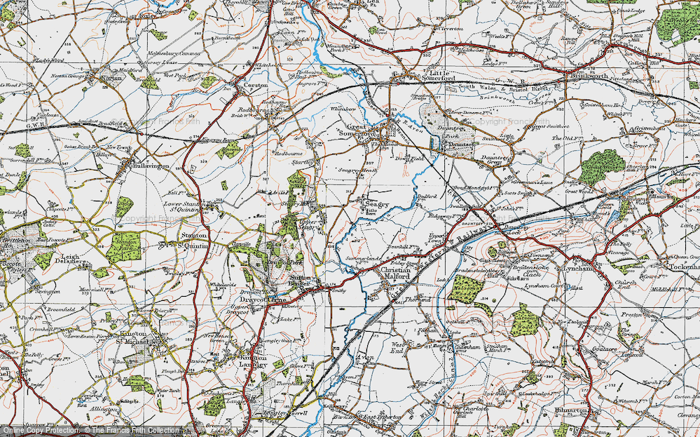 Old Map of Lower Seagry, 1919 in 1919