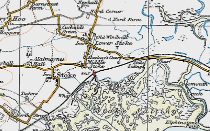 Old map of Lower Stoke in 1921
