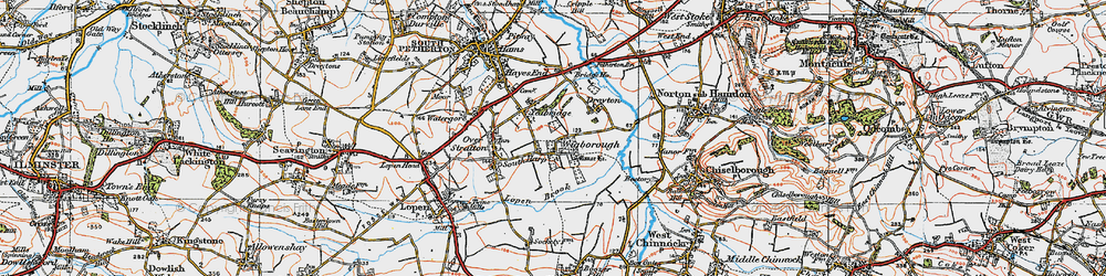 Old map of Wigborough Manor in 1919