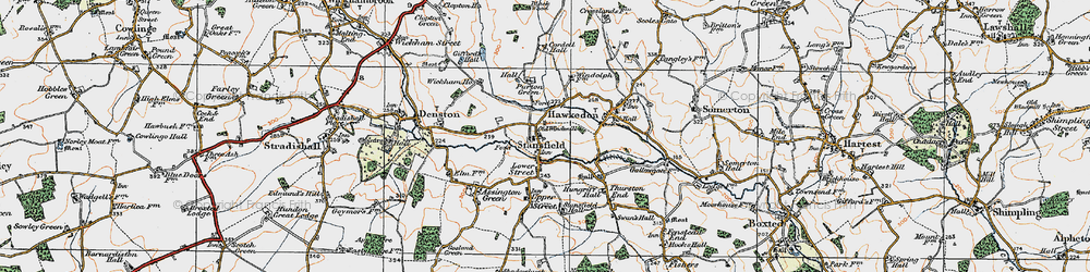 Old map of Wickham Ho in 1921
