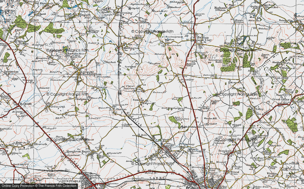 Old Map of Lower Sundon, 1919 in 1919