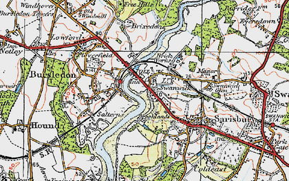 Old map of Lower Swanwick in 1919