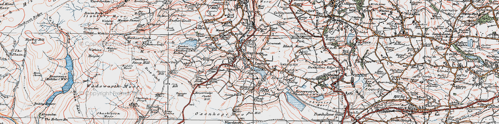 Old map of White Moor in 1925