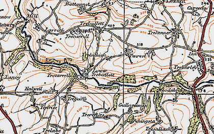 Old map of West Penrest in 1919