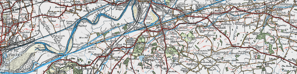 Old map of Lower Walton in 1923