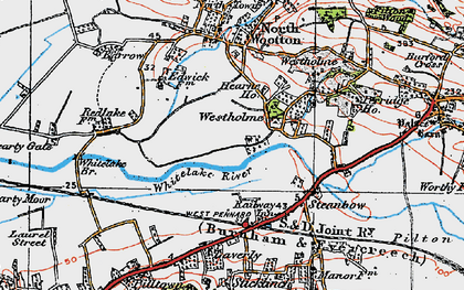 Old map of Whitelake in 1919