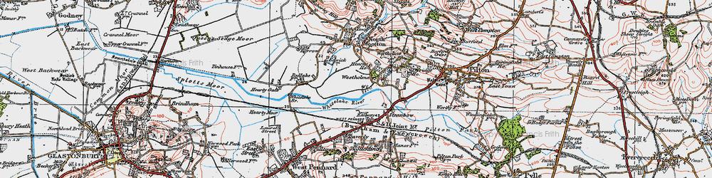 Old map of Whitelake in 1919