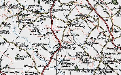 Old map of Whitley Brook in 1923