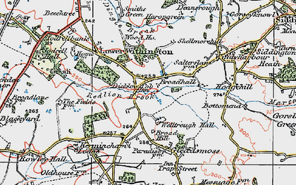Old map of Lower Withington in 1923