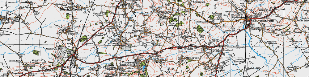 Old map of Yarlington Ho in 1919