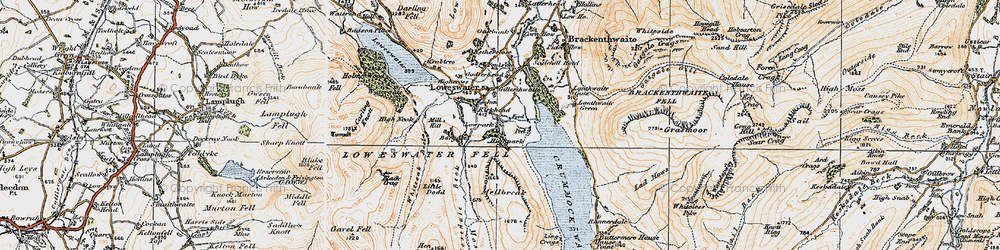 Old map of Whiteoak Beck in 1925
