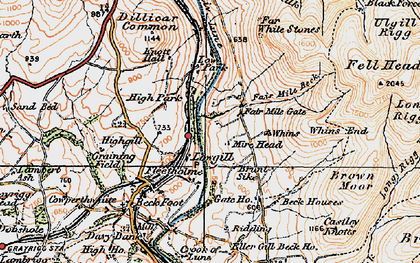 Old map of Linghaw in 1925