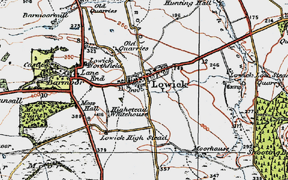 Old map of Bar Moor in 1926