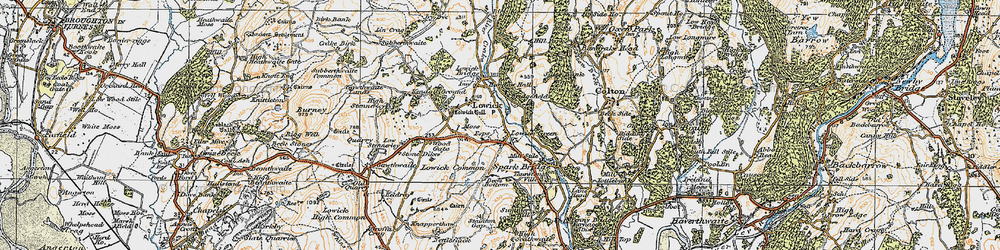 Old map of Wood Gate in 1925