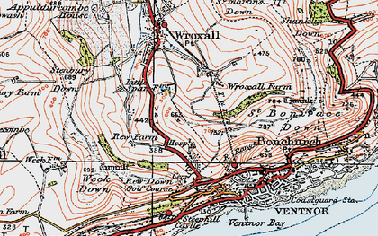 Old map of Lowtherville in 1919