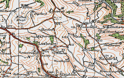 Old map of Windbow in 1919