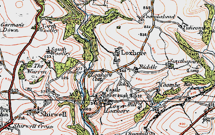 Old map of Woolley Wood in 1919
