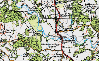 Old map of Loxwood in 1920