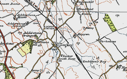 Old map of Adderstone Grange in 1926