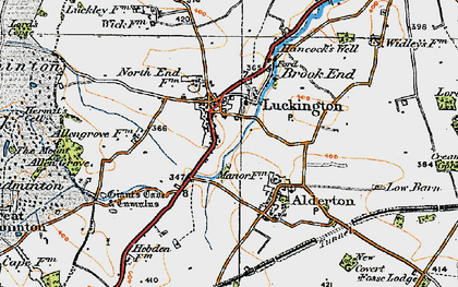 Old map of Luckington in 1919