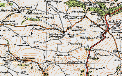 Old map of Larcombe Brook in 1919