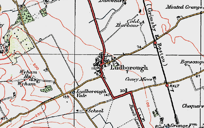 Old map of Wyham in 1923