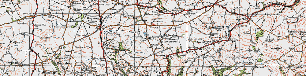 Old map of Westerton in 1922