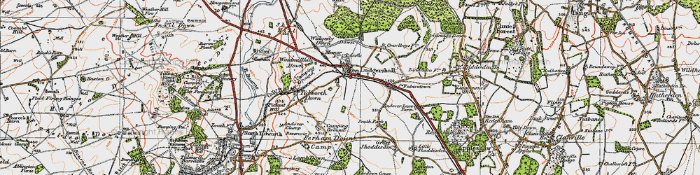 Old map of Widgerly Down in 1919