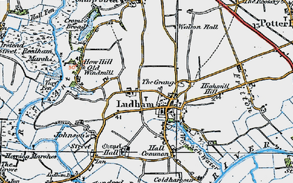 Old map of Ludham in 1922