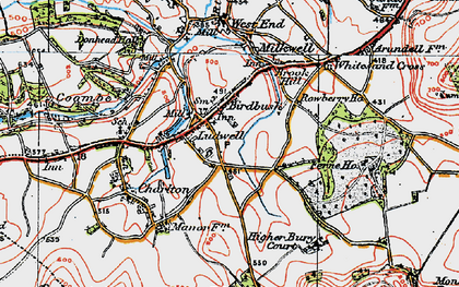 Old map of Ludwell in 1919