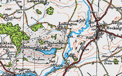 Old map of Lullington in 1919