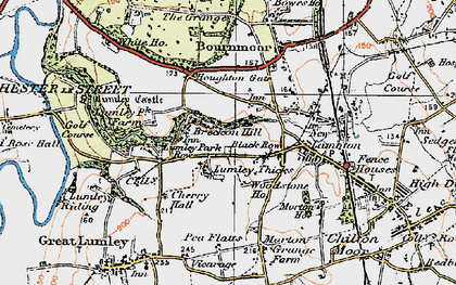 Old map of Lumley Thicks in 1925