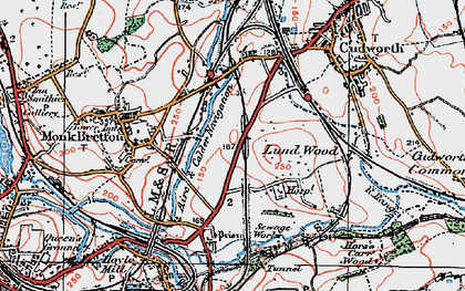Old map of Lundwood in 1924