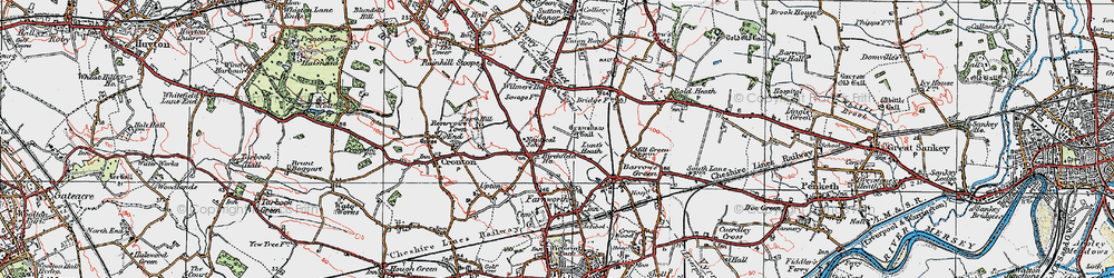 Old map of Wilmere Ho in 1923